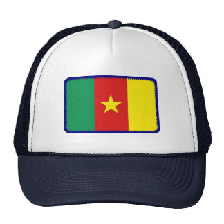 Gorra bordado bandera del efecto del Camerún