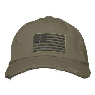 Gorra bordado bandera sometido de los E.E.U.U. de