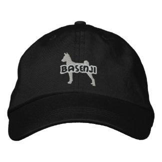 Gorra bordado Basenji de la silueta