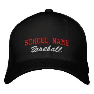 Gorra bordado béisbol del alcohol de la escuela gorras de beisbol bordadas
