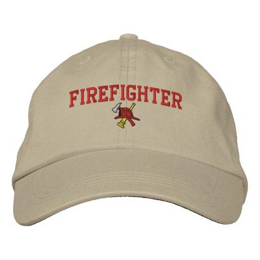 Gorra bordado bombero gorra de béisbol
