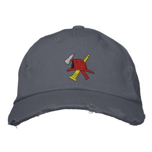 Gorra bordado bombero gorra de béisbol bordada