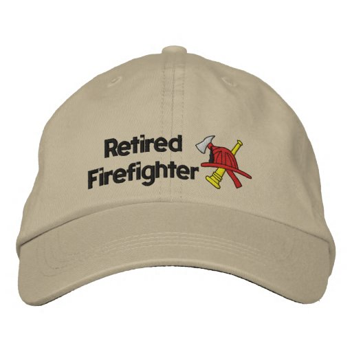 Gorra bordado bombero jubilado gorra de beisbol