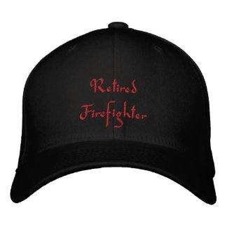 Gorra bordado bombero jubilado gorra de béisbol