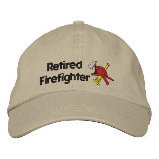 Gorra bordado bombero jubilado gorras bordadas