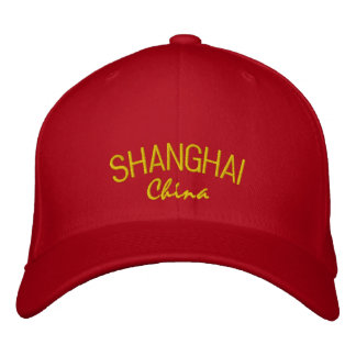 Gorra bordado China de Shangai Gorra De Béisbol Bordada