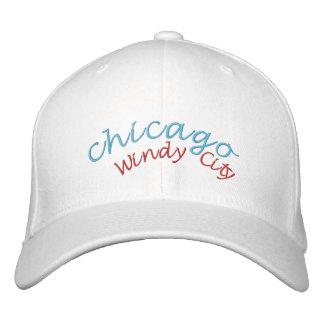 Gorra bordado ciudad ventosa de Chicago Gorra Bordada