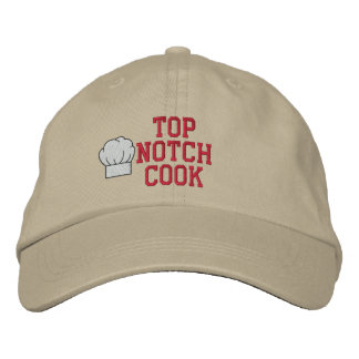 Gorra bordado cocinero de la primera clase gorras de beisbol bordadas
