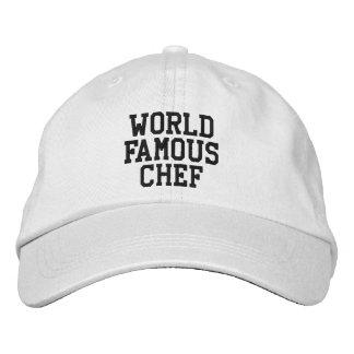 Gorra bordado cocinero famoso gorra bordada