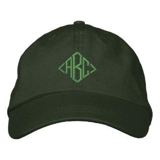 Gorra bordado con monograma de encargo verde