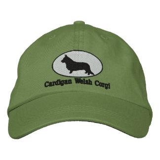Gorra bordado Corgi Galés de la rebeca