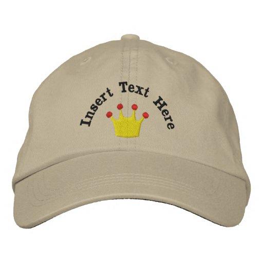 eff1f2433ca19 Gorra bordado corona del rey o de la reina