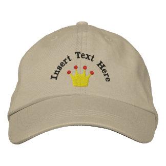 Gorra bordado corona del rey o de la reina gorros bordados