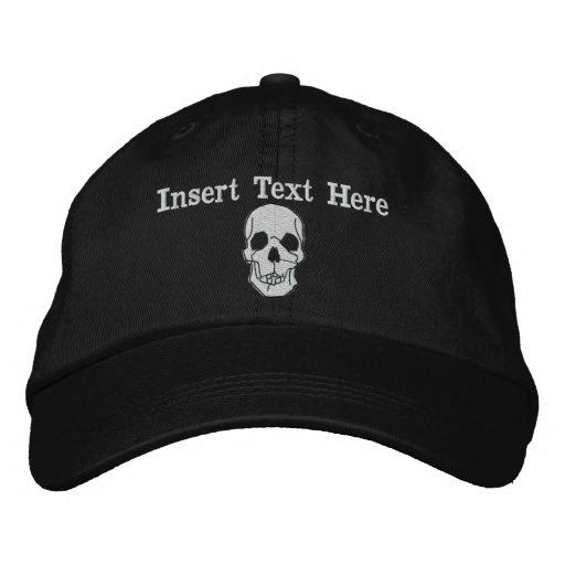 Gorra bordado cráneo gorra de béisbol