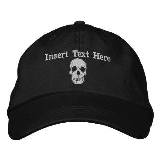 Gorra bordado cráneo gorro bordado