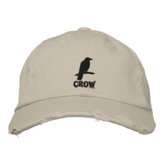 Gorra bordado cuervo negro gorra de béisbol