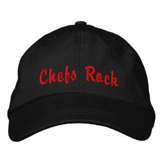 Gorra bordado de la roca de los cocineros gorra de béisbol