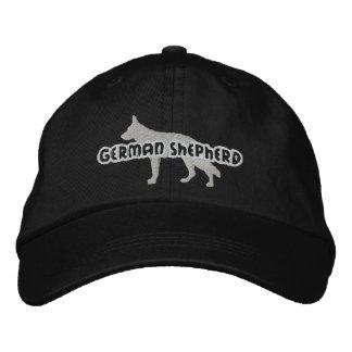 Gorra bordado del pastor alemán de la silueta gorra de beisbol bordada