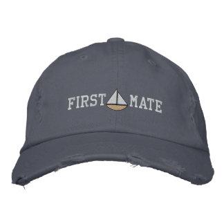 Gorra bordado del primer compañero de los marinero gorras bordadas
