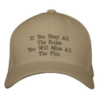 Gorra bordado diversión gorra de béisbol