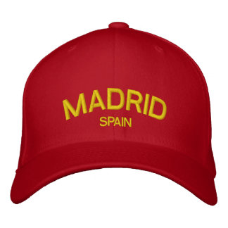 Gorra bordado España de Madrid