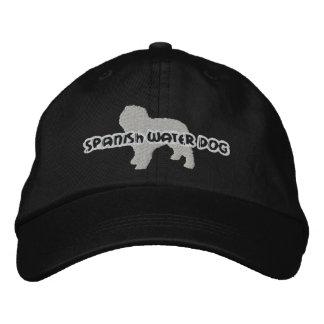 Gorra bordado español del perro de agua de la gorra de béisbol