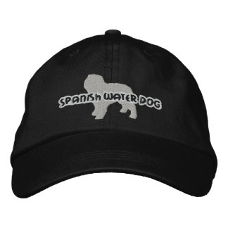 Gorra bordado español del perro de agua de la silu gorra de béisbol