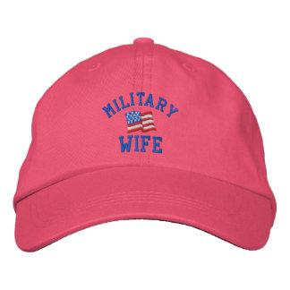 Gorra bordado esposa militar gorra de beisbol bordada