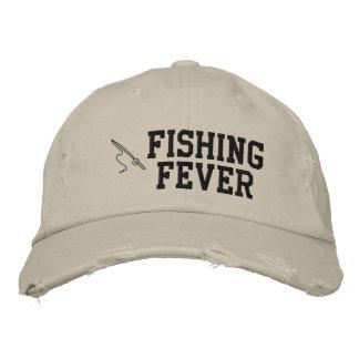 Gorra bordado fiebre de la pesca