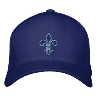 Gorra bordado flor de lis azul