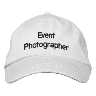Gorra bordado fotógrafo del acontecimiento