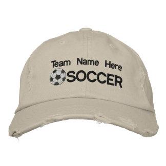 Gorra bordado fútbol personalizado