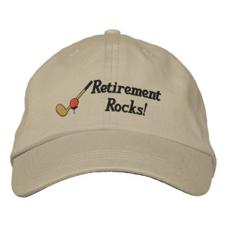 Gorra bordado golf del retiro gorra de béisbol bordada