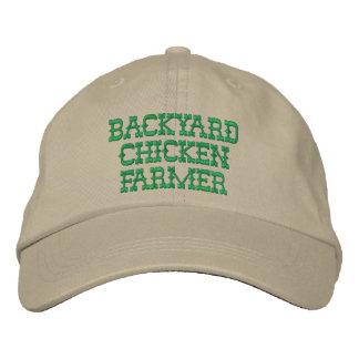 Gorra bordado granjero del pollo del patio trasero