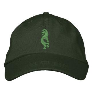 Gorra bordado Kokopelli verde