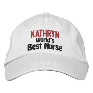 Gorra bordado la mejor enfermera personalizado gorra de beisbol bordada
