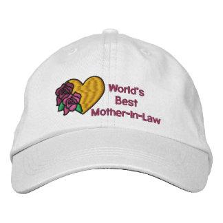 Gorra bordado la mejor suegra de los mundos gorra de béisbol bordada
