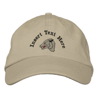 Gorra bordado lobo de encargo
