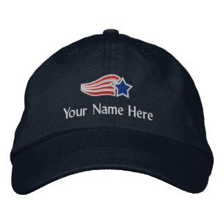 Gorra bordado logotipo de encargo de la estrella d gorra de béisbol bordada