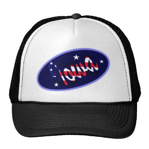 Gorra bordado los E.E.U.U. del efecto de Iowa