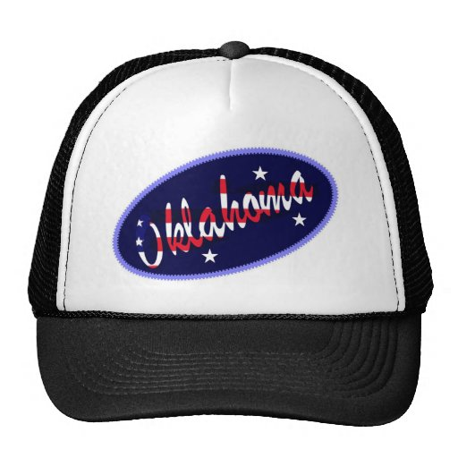 Gorra bordado los E.E.U.U. del efecto de Oklahoma