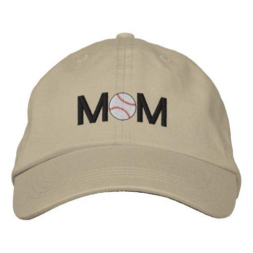 Gorra bordado mamá del béisbol