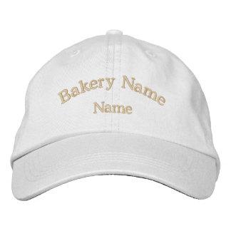 Gorra bordado nombre de la panadería gorra de béisbol
