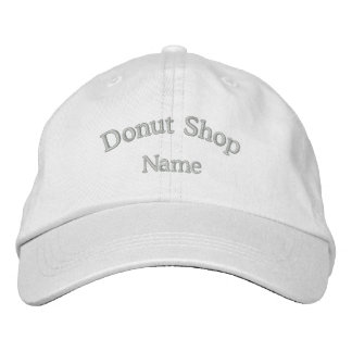 Gorra bordado nombre de la tienda de buñuelo gorra de beisbol