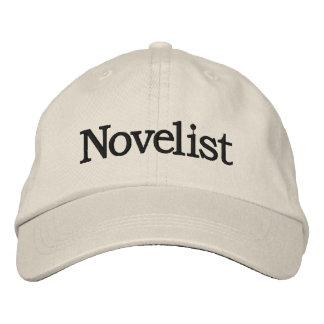 Gorra bordado novelista para los escritores nuevos