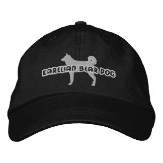 Gorra bordado perro carelio del oso de la silueta gorra de beisbol bordada