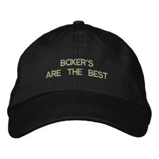 Gorra bordado perro del boxeador gorras de beisbol bordadas