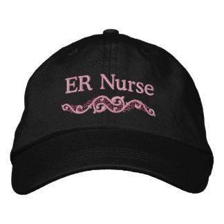 Gorra bordado personalizado de la enfermera del ER Gorra De Beisbol Bordada