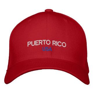 Gorra bordado personalizado de Puerto Rico los