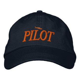 Gorra bordado piloto del aeroplano